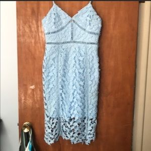 Lulu's baby blue lace dress